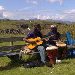 Samba Sene, Sam Achampon on Easdale island