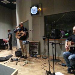 Adam Holmes in BBC studio