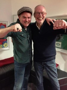 Dean Owens with Whispering Bob Harris at BBC Radio 2