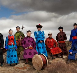 members of Anda Union band, from Mongolia