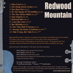 Back cover of Redwood Mountain CD